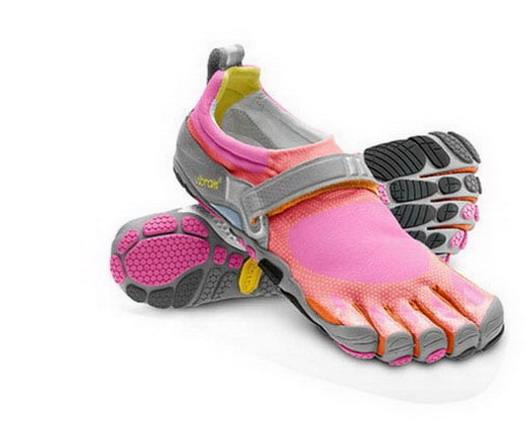 girlsrunningfivefingershoespinkgraytrialfivefingershoes